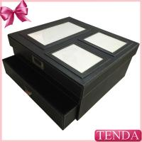 Wholesale Large Biggest Size White Thread Stitching Home Family Storage Collective Leather Gift Box from china suppliers