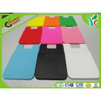 Buy cheap Silkscreen Printing Silicone Credit Card Holder Recycled 3M Glue from wholesalers