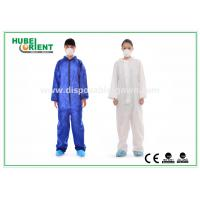 Wholesale Protective Safety Blue Disposable Coveralls for Men , Eco Friendly Durable from china suppliers