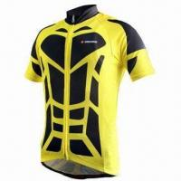 Wholesale Unisex Short Sleeve Cycling Jersey, Full Length Hidden Zipper, Customized Designs Welcomed from china suppliers