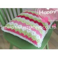 Quality Five Colors Flowers Ripple Shape Crochet Cushion Cover Large Knitted Cushions for sale