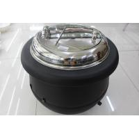 Wholesale Black Color Electric Soup Warmer 10ltr W/ Stainless Steel Cover Single Phase 220V Volts Adjustable Temperature Knob from china suppliers