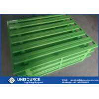 Wholesale Professional Green Steel Storage Pallets , Heavy Duty Stackable Metal Pallets from china suppliers