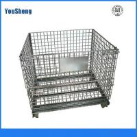 Wholesale Warehouse folding stackable storage wire mesh containers for PET Preform from china suppliers