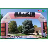 Wholesale Pink Color Inflatable Finish Inflatable Arch With Logo Printing from china suppliers