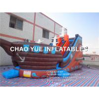 Wholesale Pirate Ship Shaped Combo Inflatable Slide With Computer Digital Printings from china suppliers