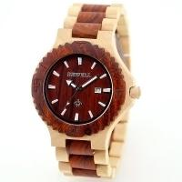 Wholesale ROHS FSC Standard Men Tense Wooden Watch 3ATM With Vogue Miyota Japanese Movement from china suppliers