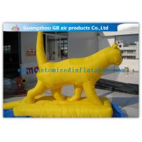 Wholesale Waterproof Yellow Cat Inflatable Cartoon Characters / Large Inflatable Animals For Amusement Park from china suppliers