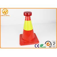 Wholesale Anti Theif Traffic Safety Cones Mini LED Warning Light Powered by Solar Batteries from china suppliers
