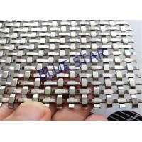 Wholesale Custom Decorative Metal Screen Mesh , Decorative Woven Wire Mesh For Cabinet Doors from china suppliers