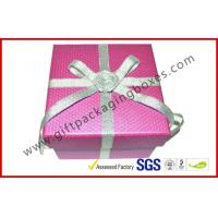 Wholesale Handmade Texture Paper Gift Packaging Boxes , Custom Rigid Board Cup Gift Box with Ribbon from china suppliers