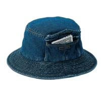 Wholesale Custom Pocket Cool Jean Bucket Hat For Four Season Personal Style SGS Certification from china suppliers