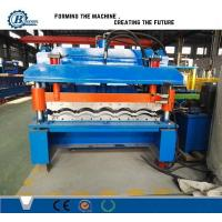 Wholesale Color Coated Automatic Steel Iron Roofing Tile Roll Forming Machine For Steel Structure from china suppliers