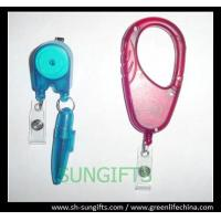 Wholesale Special type pen reel, plastic ID badge holder with ball pen from china suppliers