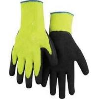 Wholesale S personalized yellow color Cotton ladies Latex Coated finger Gloves for manufacturing from china suppliers