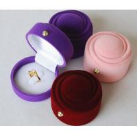Wholesale High Quality Velvet Earrings Ring Jewelry Gift Box Case from china suppliers