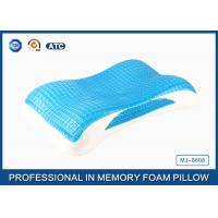 Wholesale Best Memory Foam Cool Wave Contour Side Sleeper Pillow with Luxury Tencel Pillow Cover from china suppliers