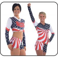 Wholesale Polyester / Spandex Cheerleading Sportswear Paillette Embroidery from china suppliers