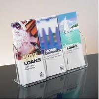 Wholesale Exquisite Clear Acrylic Holder Stand For Brochure Display , 3 Pocket from china suppliers