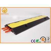 Wholesale 3 Channels Rubber Cable Protector Ramp Cord Cover 20 Ton Weight Capacity 1000 * 300 * 50 mm from china suppliers