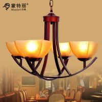 Wholesale American Style Bordeaux Metal Wrought Iron Chandelier , House E27 LED Chandeliers from china suppliers