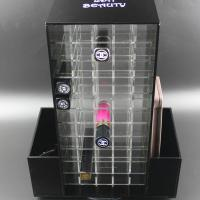 Buy cheap Acrylic Makeup Organizer for Cosmetics Compartment Plexiglass Rotating Lipstick Display from wholesalers