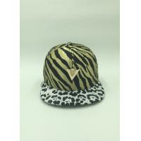 Wholesale Unique Satin Sunshade Youth Snapback Hats Adjustable Leopard Pattern from china suppliers