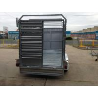 Wholesale Double Axle Cattle Crate Trailer With An Extra Wheel / Hydraulic Brake Drum from china suppliers