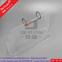Wholesale Plastic Desk Calendar Holder With Pen Holder Acrylic Stand Clear from china suppliers