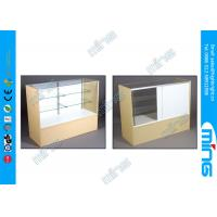 Wholesale Economy Maple Commercial Display Cabinets , Simple Full Vision Display Cases from china suppliers