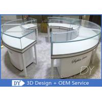 Glass Wooden Jewellery Display Counter / Jewellery Shop Fittings