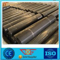 Wholesale High Tensile 100KN Fiberglass Geogrid Self-adhesive For Road Construction from china suppliers