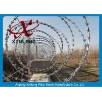 Wholesale Modern Security Barbed Wire Fence , Stainless Steel Razor Wire from china suppliers