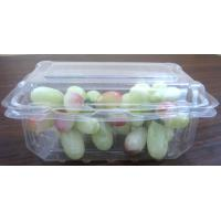 Quality Rectangular PET Fruit  Box  Disposable Salad Bowls 180mm × 110mm for sale