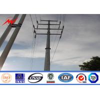 Wholesale 30ft 3mm NEA galvanized electrical power pole for overheadline project from china suppliers