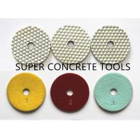 Buy cheap 100mm 3 Step Hexagonal White Dry Soft Pads For White Concrete Floor Surface Polishing from wholesalers