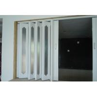 Wholesale Interior PVC Folding Door , Plastic Accordion Sliding Door 0.1-0.3 m / s Opening Speed from china suppliers