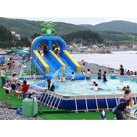 Wholesale Heavy Duty Commercial Inflatable Slides For Swimming Pool Use from china suppliers