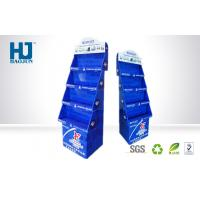 Wholesale Promotional Blue Recyclable Cardboard Corrugated Display Stand For Drinks from china suppliers