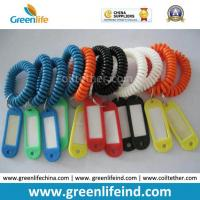 Wholesale Plastic Elastic Band Cord Coil Tether W/Name Tag from china suppliers