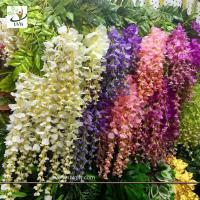 Wholesale UVG 110cm faux floral arrangements long shoot wisteria silk flowers for wedding decoration WIS016 from china suppliers