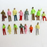 Wholesale 1:75 Architectural Scale Model People 3D Painted Figures 2.5cm from china suppliers