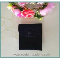Quality fabric button pouch, velvet button pouch bag, velvet pouch with button for sale