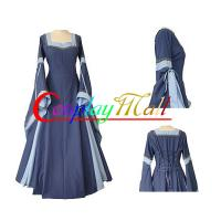 Wholesale Medieval Dress Wholesale XXS to XXXL Customize Light Blue Medieval And Renaissance Dress With Trumpet Sleeves For Gothic from china suppliers