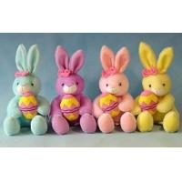 Wholesale 12inch Stuffed Easter Bunnies With Egg Push Toys, Soft Toys For Holiday Celebration from china suppliers