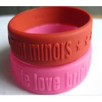 Wholesale Embossed Logo Silicone Rubber Bands Colorful Durable from china suppliers