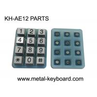 Wholesale Industrial 12 Keys Customizable Keypad Parts Silicon Membrane With Metal Buttons from china suppliers