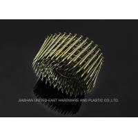 "Wholesale 3"" Roofing Coil Nails Yellow Zinc Plated Sharp Point Flat Head For Industry from china suppliers"