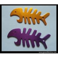 Wholesale Factory cheap fish bone winder bottle opener Keyrings wholesale golden purple openers from china suppliers