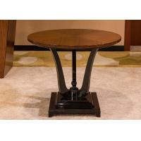 Wholesale Black Round Modern Wood Coffee Tables , Oak Solid Wood Coffee Table 60 cm from china suppliers